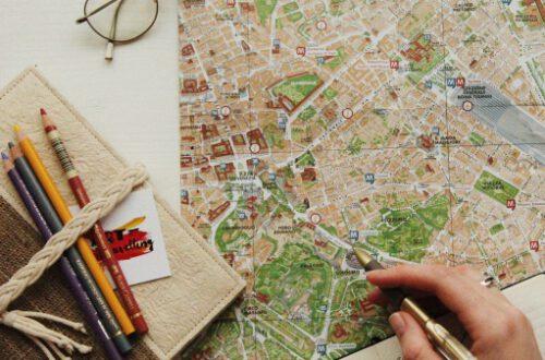 plan de viaje con mapa