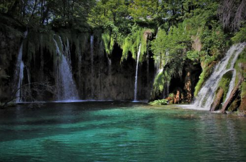 natural spring with waterfalls