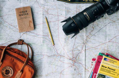 mapa de viaje
